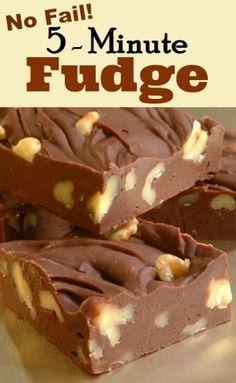Chocolate Fudge Candy Recipe  |  whatscookingamerica.net  #chocolate #fudge #candy #christmas Homemade Fudge, Homemade Candies, Homemade Marshmallows, Baking Recipes, Cookie Recipes, Dessert Recipes, Diet Recipes, Recipes Dinner, Appetizer Recipes