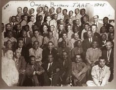 Tuskegee Airmen whom were members of Omega Psi Phi fraternity.