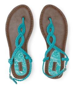 Woven T-Strap Sandal