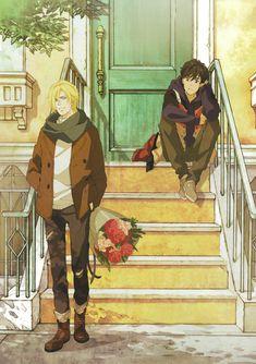 those flowers are for eiji u can't change my mind - Banane Me Anime, Fanarts Anime, Anime Love, Anime Guys, Anime Characters, Anime Art, Otaku Anime, Canon Anime, Anime Triste