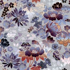 Openwork Flowers Grey by Elmira Amirova Seamless Repeat Royalty-Free Stock Pattern Motif Design, Textile Design, Pattern Design, Print Design, Floral Design, Textiles, Textile Patterns, Print Patterns, Floral Patterns