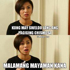 Tagalog Quotes Hugot Funny, Pinoy Quotes, Hugot Quotes, Filipino Memes, Filipino Funny, Hugot Lines Tagalog, Patama Quotes, Corny Jokes, Pick Up Lines