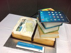 The amazing book cake for our birthday celebration