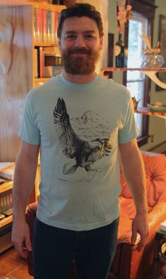 1990s Soaring Eagle TShirt SM: Men's Light by FoxandFawnDesign