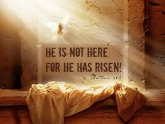 """He is risen from the dead, just as he said would happen. Come, see where his body was lying"""" Happy Resurrection Day everyone! He is Risen! (And all God's people said? The Words, Bible Scriptures, Bible Quotes, Niv Bible, He Is Risen Indeed, Resurrection Day, Believe, Jesus Christus, Christian Posters"""