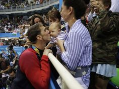 Michael Phelps shares special moment with son after 200 butterfly victory
