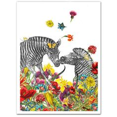 """Nothing says """"love"""" like a pair of zebras. 
