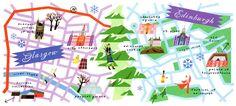 Glasgow & Edinburgh - Elle Decor travel maps