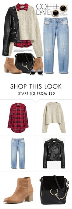 """A Coffee Date."" by yoo-q ❤ liked on Polyvore featuring H&M, Yves Saint Laurent, Django & Juliette, Chloé, contestentry and CoffeeDate"