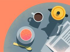 Google Calendar | Breakfast by Maya Stepien #Design Popular #Dribbble #shots