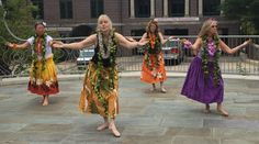 dancing at the Organific Fest, Carol Rosner, Kaleo Wheeler, Mary Ray and Maggie King
