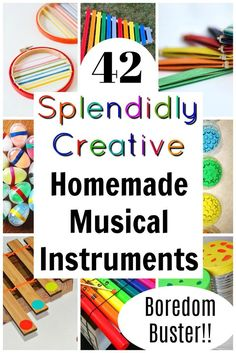 These are awesome, easy, and fun homemade musical instruments for kids to make! musical instruments Splendidly Creative {and simple} Homemade Instruments! Musical Instruments For Toddlers, Homemade Musical Instruments, Music Instruments, Projects For Kids, Diy For Kids, Crafts For Kids, Preschool Music, Preschool Crafts, Music Activities For Preschoolers