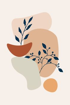 Plant From Inside Art Print by Creativeaxle - X-Small Minimalist Painting, Minimalist Art, Art Pastel, Afrique Art, Abstract Line Art, Aesthetic Art, Art Inspo, Watercolor Art, Art Projects