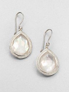 Ippolita Lollipop Mother Of Pearl Diamond 18k Yellow Gold Mini Stud Earrings Pinterest Products