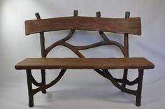 Faux bois #concrete #bench, available in #Southampton #Mecox #interiordesign #MecoxGardens #furniture #shopping #home #decor #design #room #designidea #vintage #antiques #garden #Hamptons
