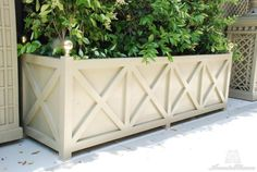 55 Amazingly Creative Long Planter Ideas for Your Patio Long Planter Boxes, Wood Planter Box, Wooden Planters, Diy Planters, Planter Ideas, Outdoor Planter Boxes, Planter Pots, Large Outdoor Planters, Outdoor Spaces