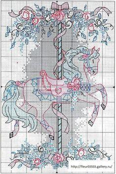 Carousel horse -- free cross stitch pattern