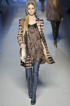 Etro Fall 2008 Ready-to-Wear Fashion Show - Erin Heatherton