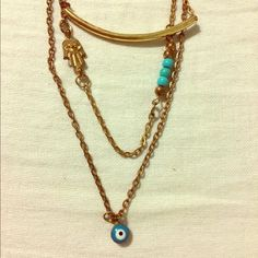 New Condition Gold/Copper Layered Necklace