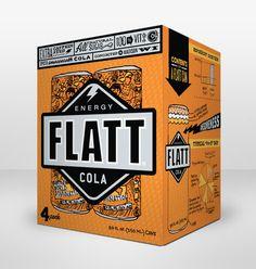 This will definitely pop off the shelves, such funky fun!   Flatt Energy Cola - Hiebing  www.hiebing.com