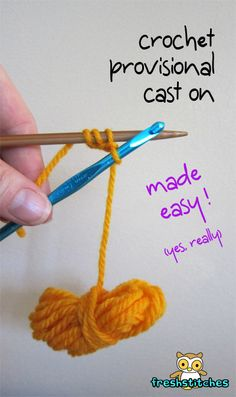 Crochet Provisional cast on from FreshStitches