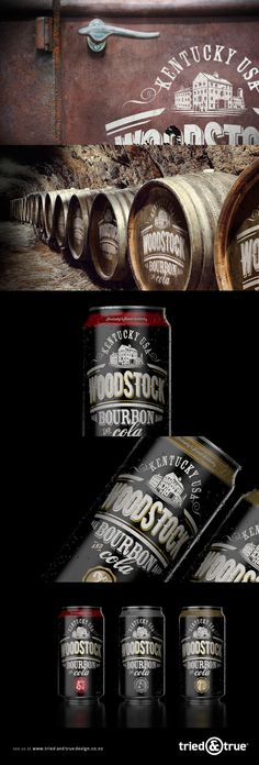 Packaging evolution for Woodstock Bourbon through Barnes Catmur.