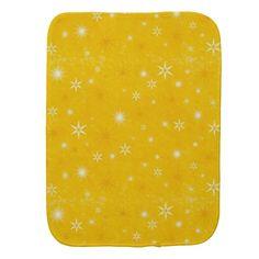 Yellow Burst Burp Cloth