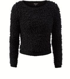 Petite - Pull noir pelucheux ultra doux 29,99 €