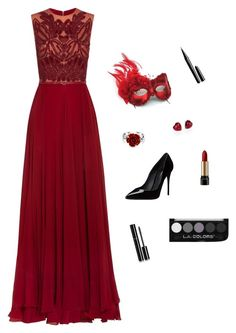"""My Masquerade"" by mirberry-s on Polyvore featuring Elie Saab, Masquerade, Bling Jewelry, Adriana Orsini, Dolce&Gabbana, Lancôme, Marc Jacobs and Chanel"