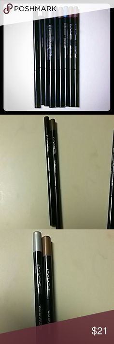 Pick any 2 MAC TECHNAKOHL Waterproof Eyeliners Brand New MAC TECHNAKOHL Waterproof Eyeliner Pencil in the following colors: Black,  Brown, Metallic Silver, Metallic Golden Brown,  Royal Blue, Plum/Purple,  and White.  2 for $21 MAC Cosmetics Makeup Eyeliner