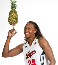 Tamika Catchings - Indiana Fever, Pineapple  www.findyourfavorite.com