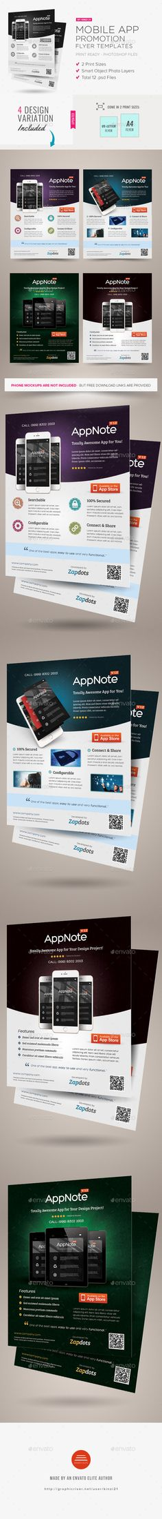Mobile App Promotion Flyers - Commerce Flyers