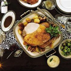 Classic roast turkey with pancetta, date and sage stuffing Recipe ...