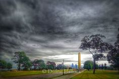 Storm Clouds over the Liberty Memorial
