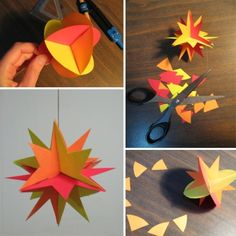 Creating a Paper Star Decoration - Easy to Make