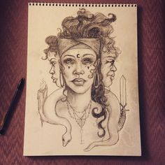 """""""That's better. Still working though #Hecate #drawing #workinprogress"""""""