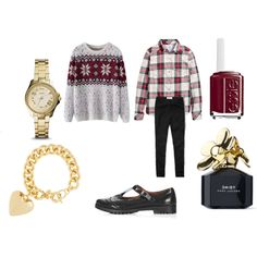 """""""Plaid shirt and a holiday sweater 2014"""" by shycoygirl65 on Polyvore"""