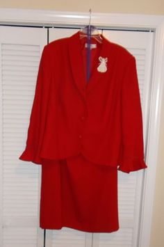 Plus Size Suit, 24W by Emily in Red Color, have worn this suit only twice, excellent condition. This suit looks marvelous on everyone, a suit for all occasions. | eBay!