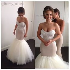 One of our most liked gowns in 2014 of the gorgeous bride Tijana make up by  MUA milani joy  hair hairby_natasa Gown Personalised Weddings Couture