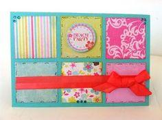 """Beach Party"" card by emily Lanham, Design Team member."