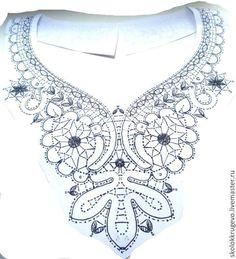 Купить сколок украшение на шею Бабочка - сколок, кружево хлопковое, отделка, украшение на шею