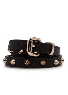 MANGO - Studded slim belt