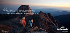 """Every great achievement was once considered impossible."" - Unknown #quote #motivational #travel"