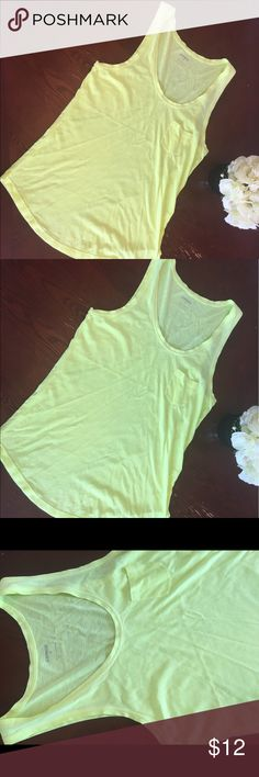 Express neon tank top size Medium Like New condition super cute tank perfect for the summer Express Tops Tank Tops