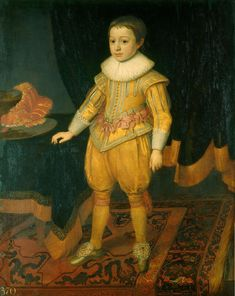 Prince Rupert as a child 1625, portrait owned by his uncle King Charles I By Michiel Jansz van Miereveld