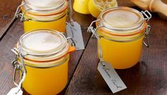 Homemade lemon curd.