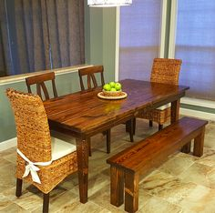 16 Ideas Farmhouse Table With Leaf Solid Wood For 2019 Solid Wood Furniture, Dining Room Furniture, Custom Furniture, Family Furniture, Furniture Ideas, Living Room Colors, Living Room Decor, Farmhouse Kitchen Light Fixtures, Wood Home Decor