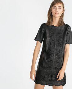 Zara kleid in lederoptik