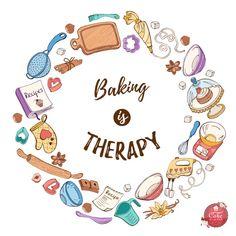 Logo Discover is therapy! Cake Logo Design, Food Logo Design, Bakery Design, Cupcake Logo, Logo Doce, Pastry Logo, Baking Wallpaper, Baking Logo, Baking Quotes