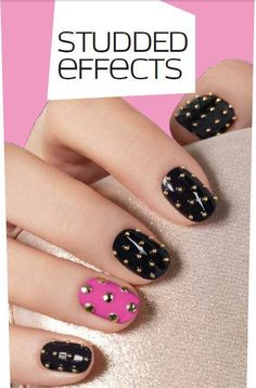 Cute studded nails